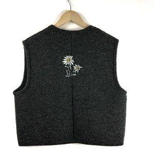 Vintage St. Peter Trachten Sweater Vest Embroidery